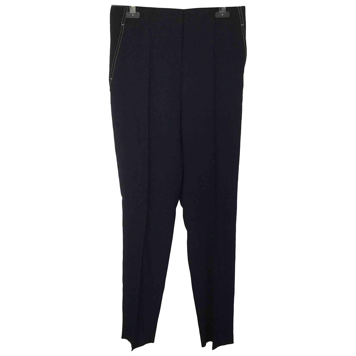 Celine \N Blue Wool Trousers for Women 40 FR