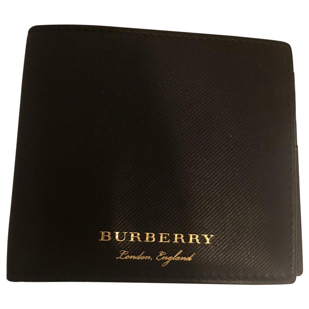 Burberry - Petite maroquinerie   pour homme en cuir - noir