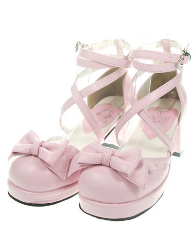 Milanoo Popular Red High Heels PU Womens Lolita Shoes