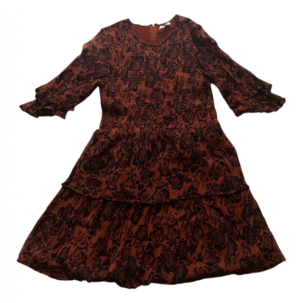Ganni \N Kleid in  Braun Viskose