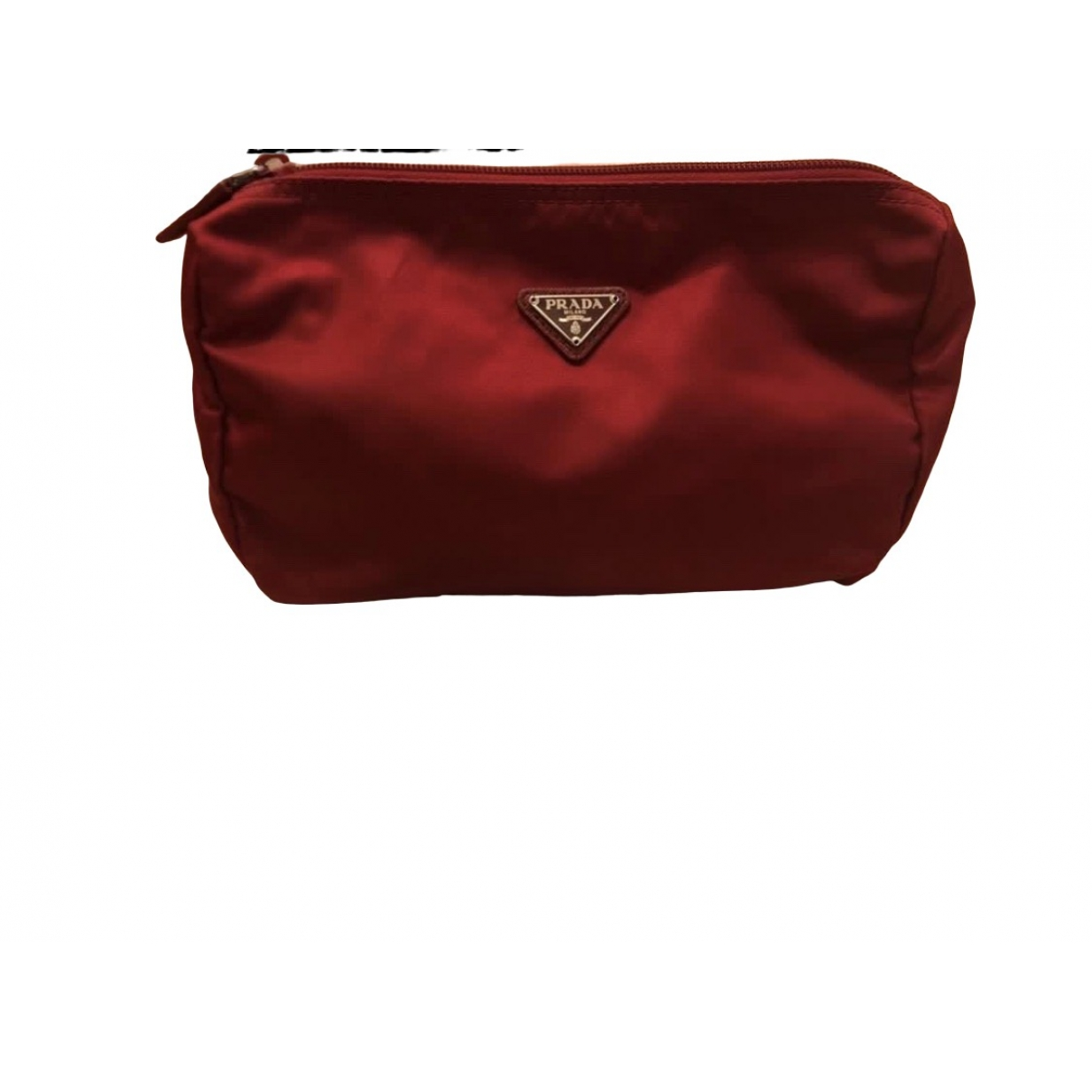 Prada Re-Nylon Red Silk Clutch bag for Women \N