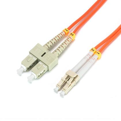 Fiber Optic Cable, OM2 LC/SC, Multi Mode, Duplex 3 Meter (50/125 Type) - Orange - Primecables®