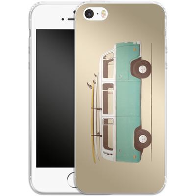 Apple iPhone 5 Silikon Handyhuelle - Blue Van von Florent Bodart