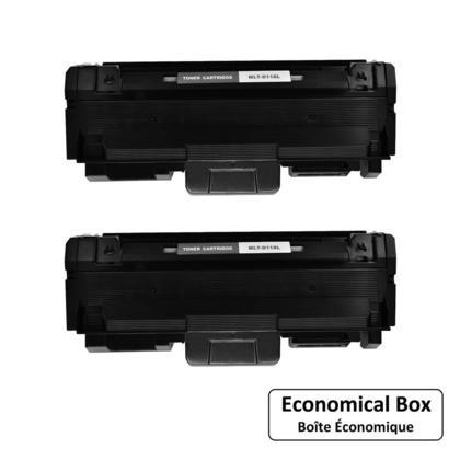 Compatible Samsung MLT-D118L Black Toner Cartridge High Yield - Economical Box - 2/Pack