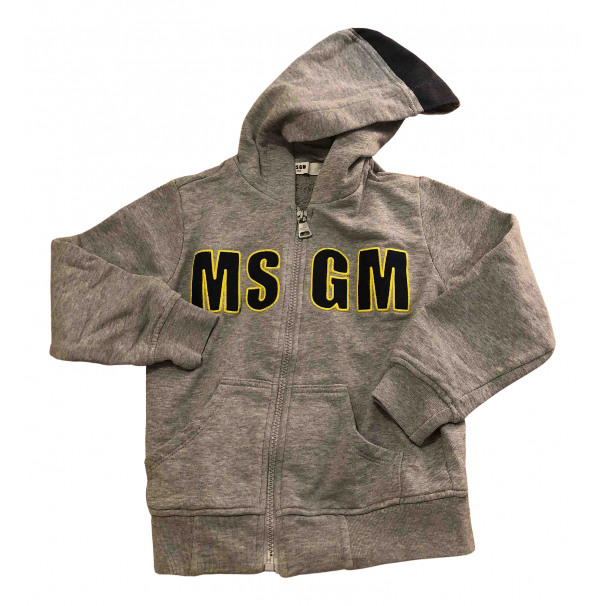 Msgm N Grey Cotton Knitwear for Kids 4 years - up to 102cm FR