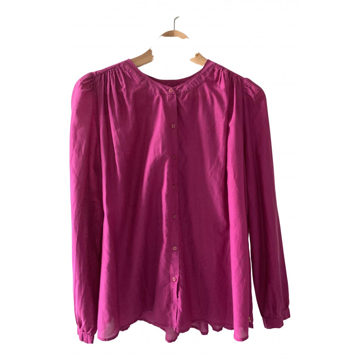 Des Petits Hauts - Top   pour femme en coton - violet