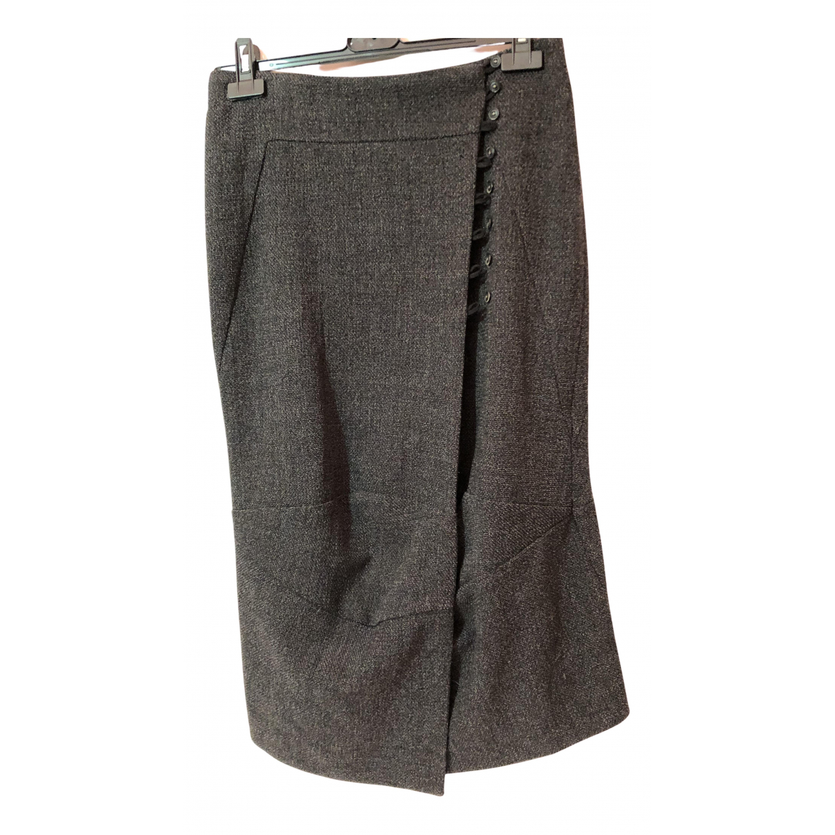 Non Signé / Unsigned N Anthracite skirt for Women 42 IT