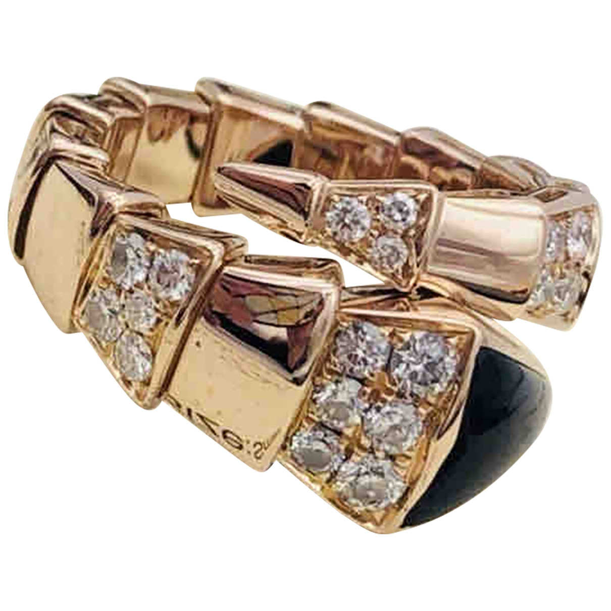 Bvlgari Serpenti Gold Gold plated ring for Women 60 MM