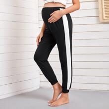 Maternity Contrast Sideseam Sweatpants