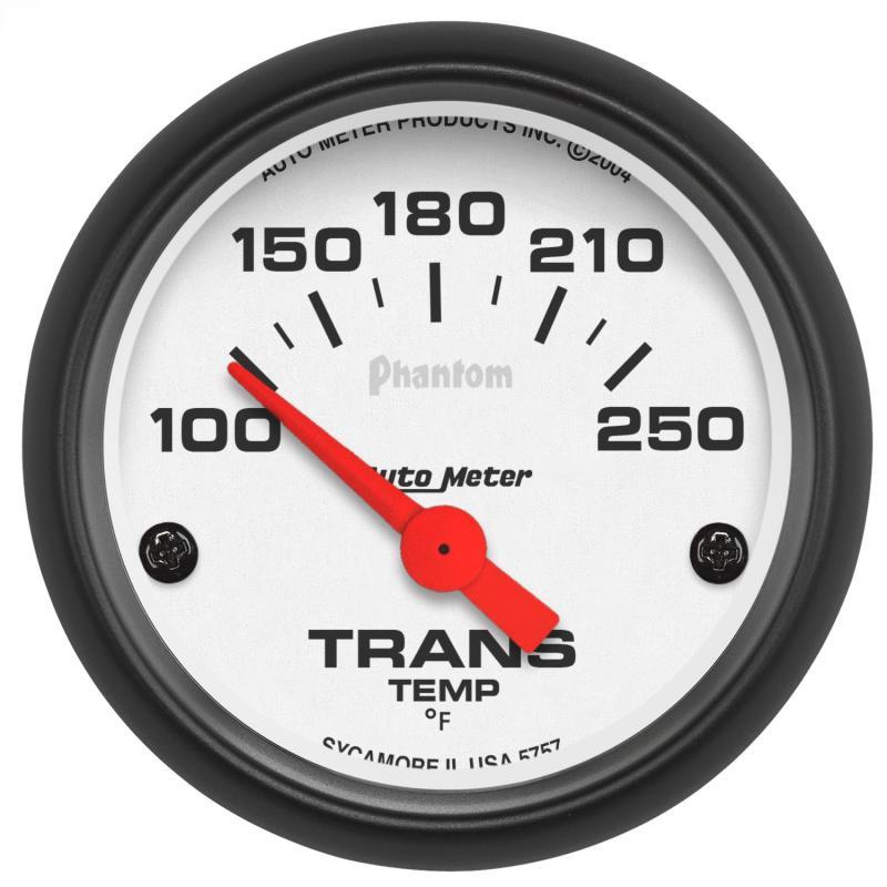 AutoMeter GAUGE; TRANSMISSION TEMP; 2 1/16in.; 100-250deg.F; ELECTRIC; PHANTOM