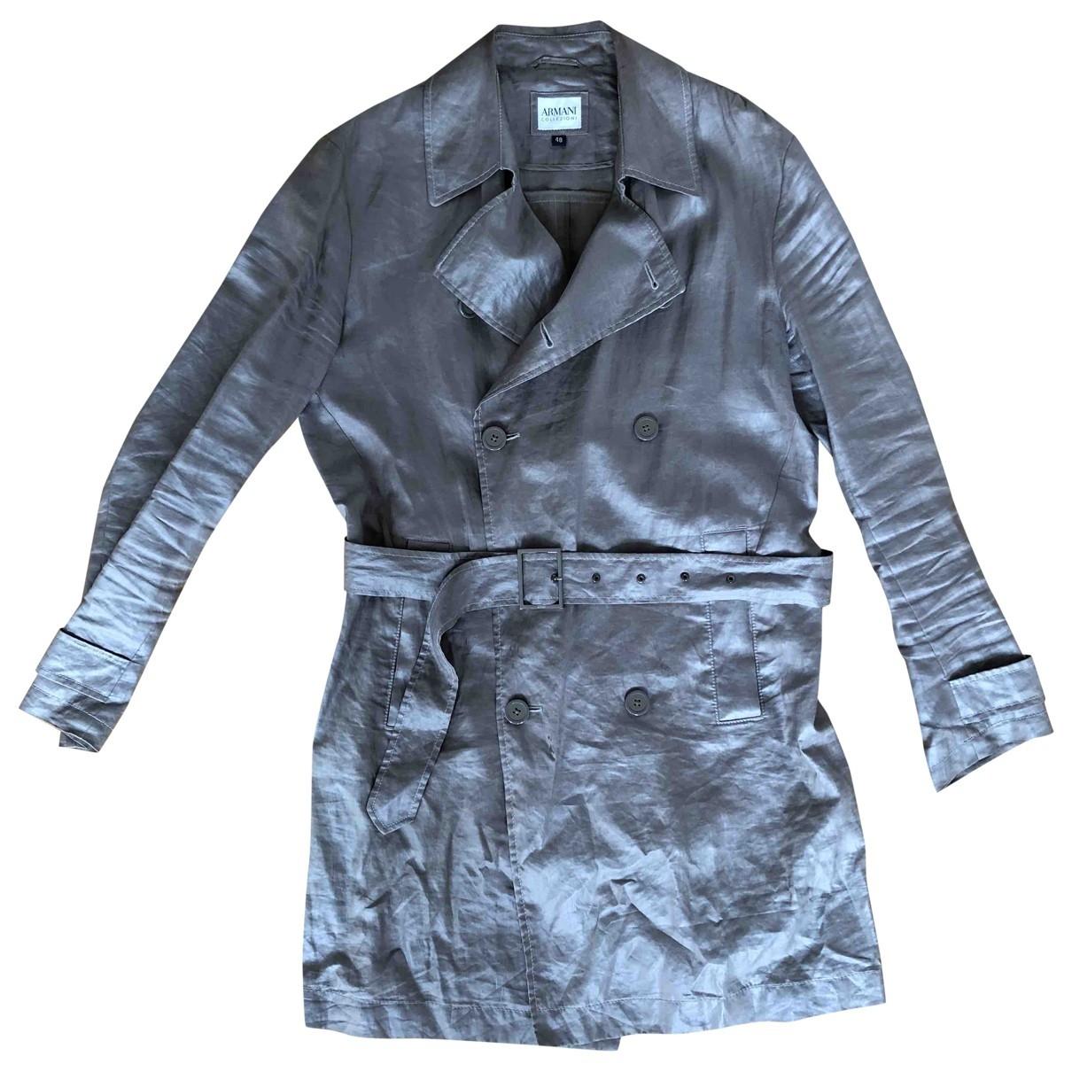Armani Collezioni \N Jacke in  Metallic Baumwolle