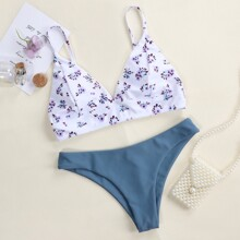 Floral Cheeky Bikini Swimsuit