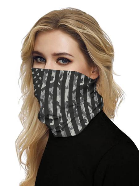 Milanoo Face Cover Windproof Scarf Sunscreen Camo Breathable Bandana