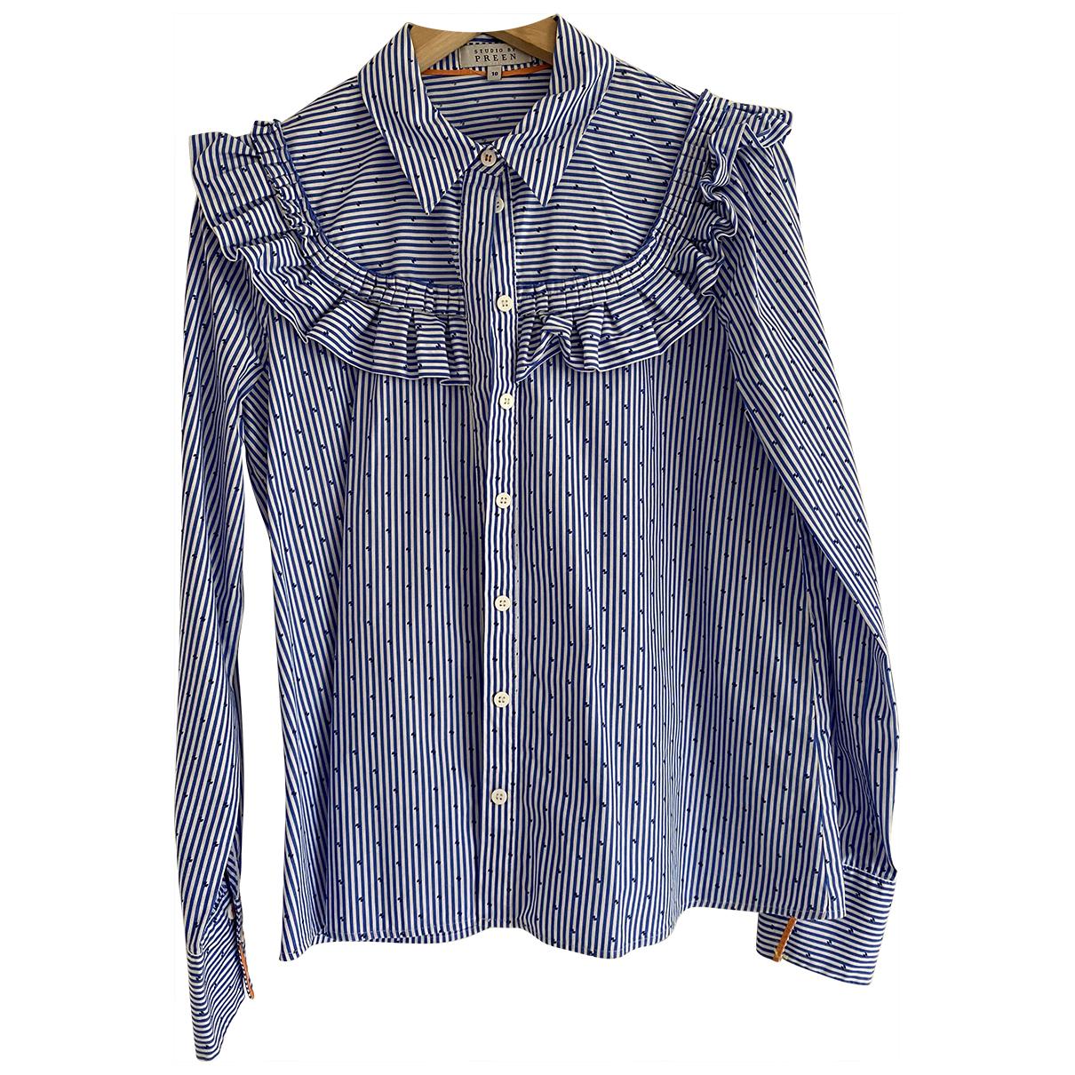 Preen - Top   pour femme en coton - bleu