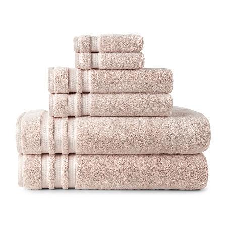 Liz Claiborne Luxury Egyptian Hygrocotton Loops Bath Towel, One Size , Pink