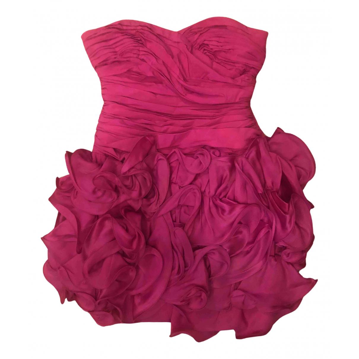 Marchesa Notte \N Kleid in  Lila Seide