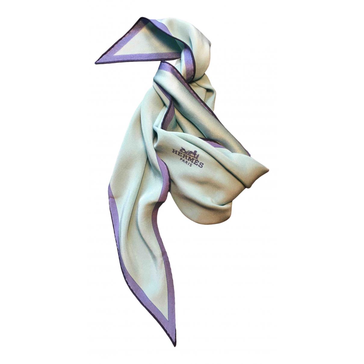 Hermes Losange Schal in  Blau Seide