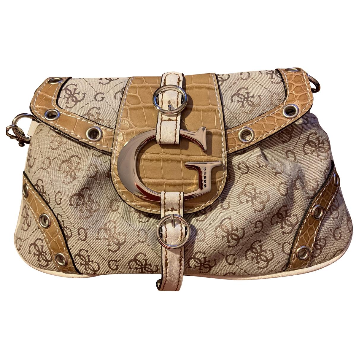 Guess \N Beige Cloth handbag for Women \N