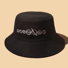 Sombrero cubo con bordado de planeta