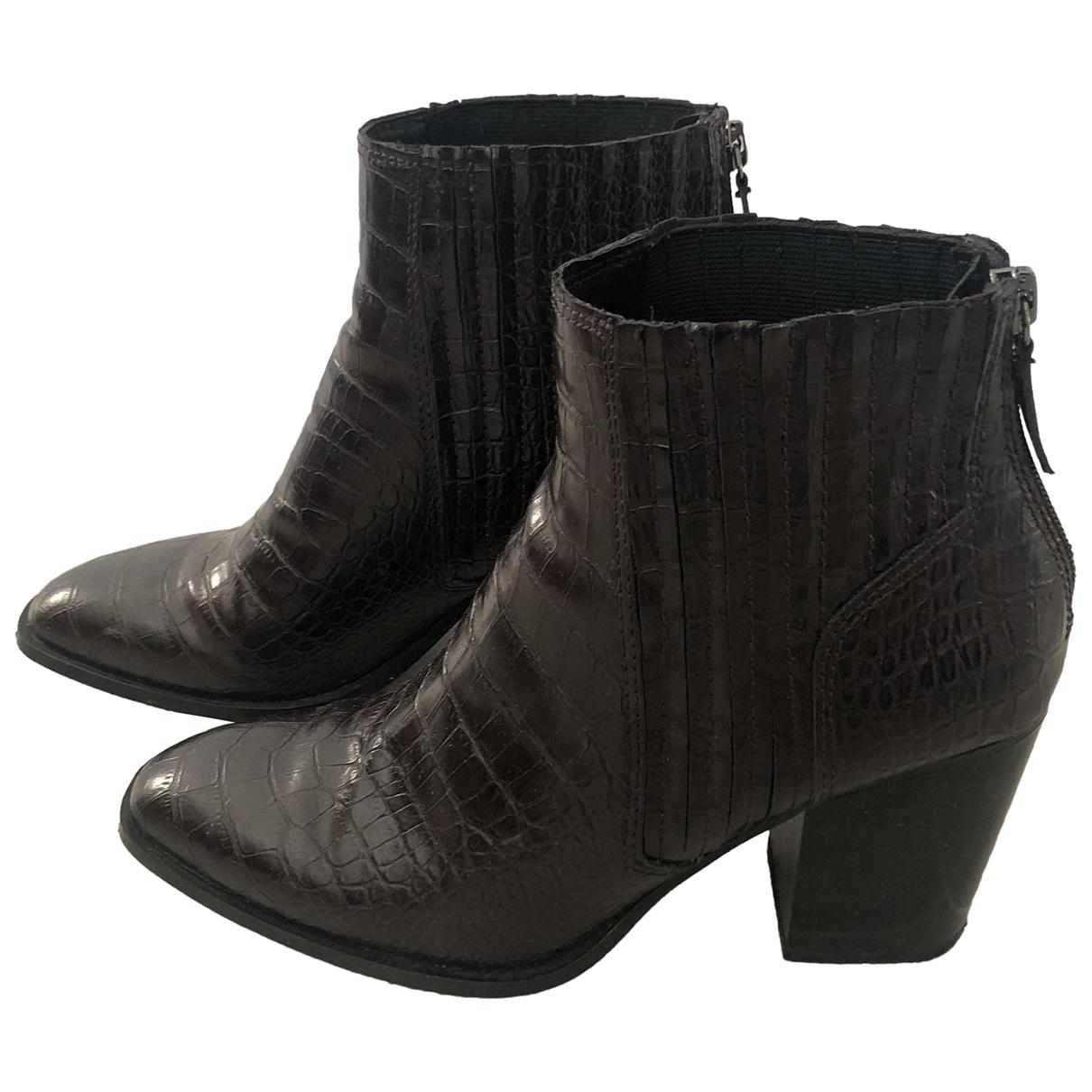 Zara - Boots   pour femme - bordeaux