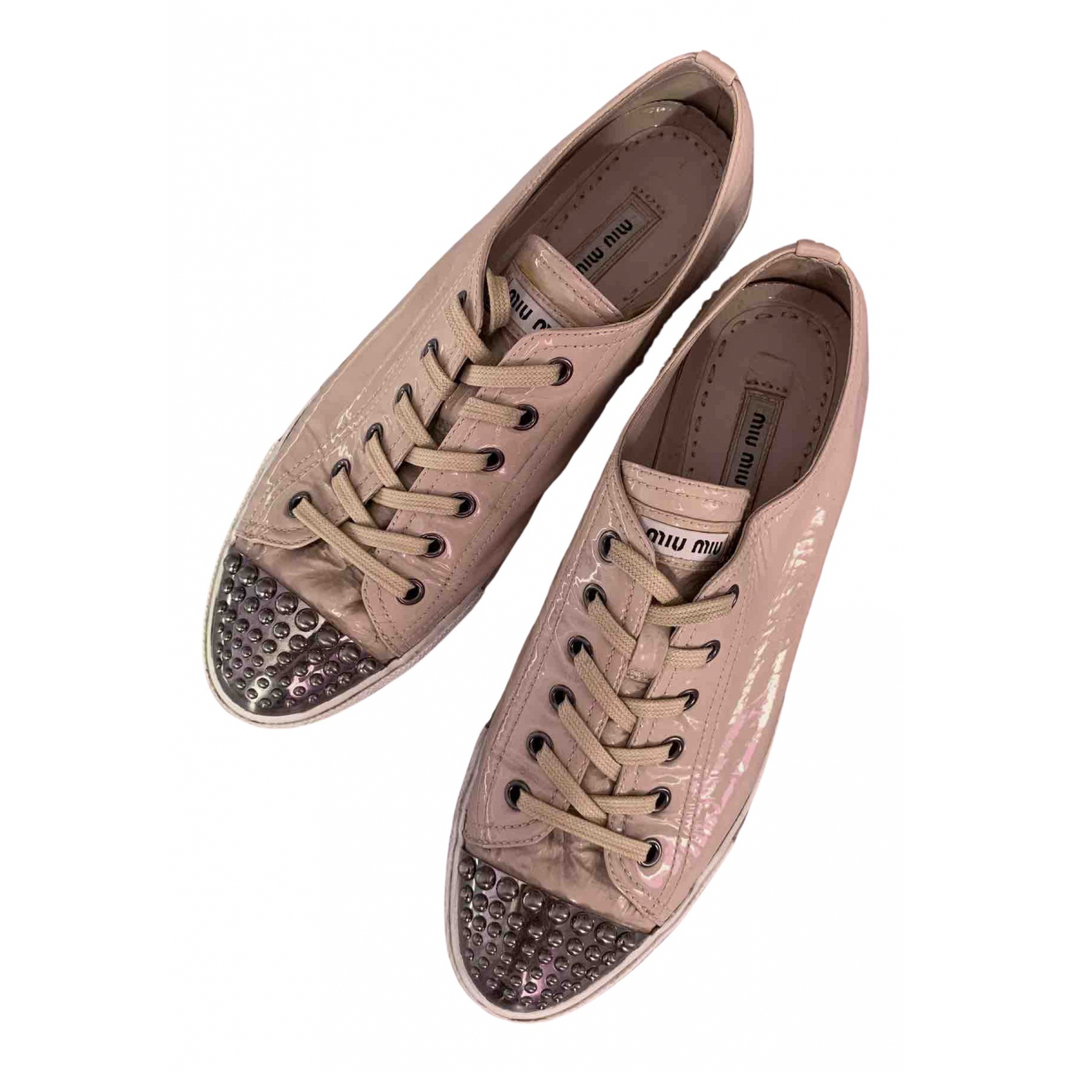 Miu Miu \N Sneakers in  Rosa Lackleder
