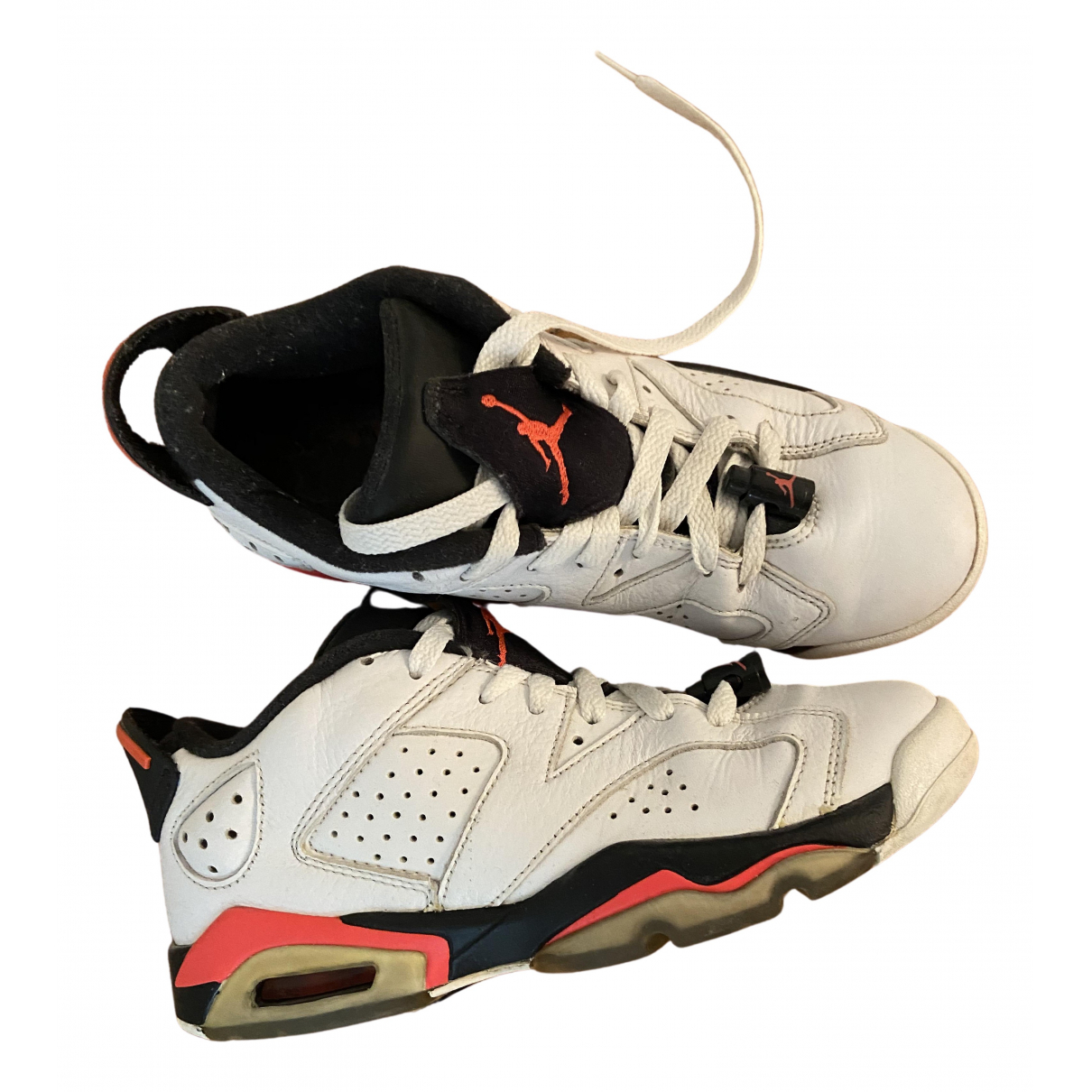 Jordan Air Jordan 6  Sneakers in  Weiss Leder