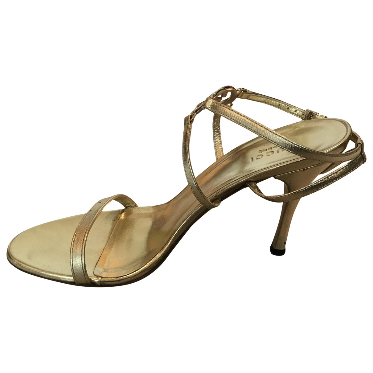 Gucci \N Gold Leather Sandals for Women 38.5 IT