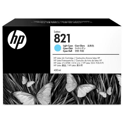 HP 821 G0Y90A Original Light Cyan Latex Ink Cartridge 400ml