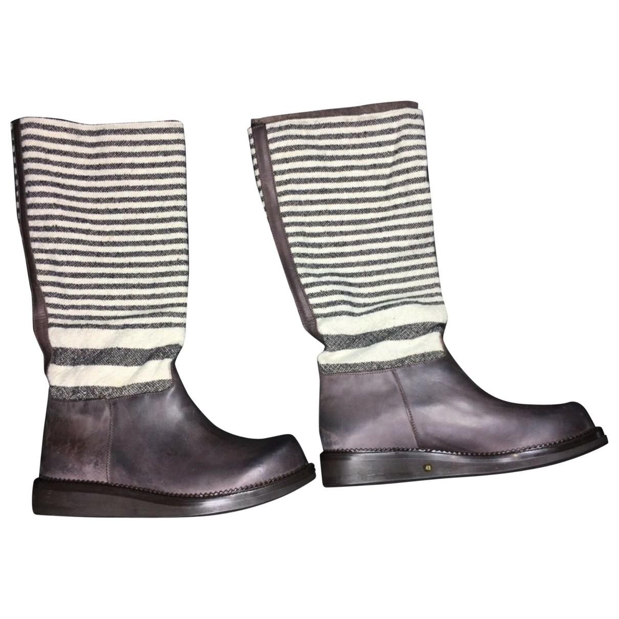 Damir Doma \N Stiefel in  Braun Leder