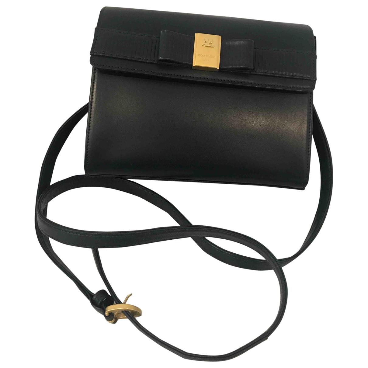Courreges \N Handtasche in  Blau Leder
