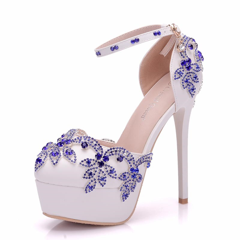 Ericdress Rhinestone Platform Stiletto Heel Wedding Shoes