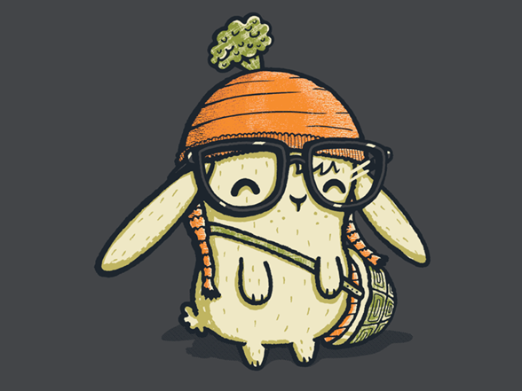 Ironic Bunny T Shirt