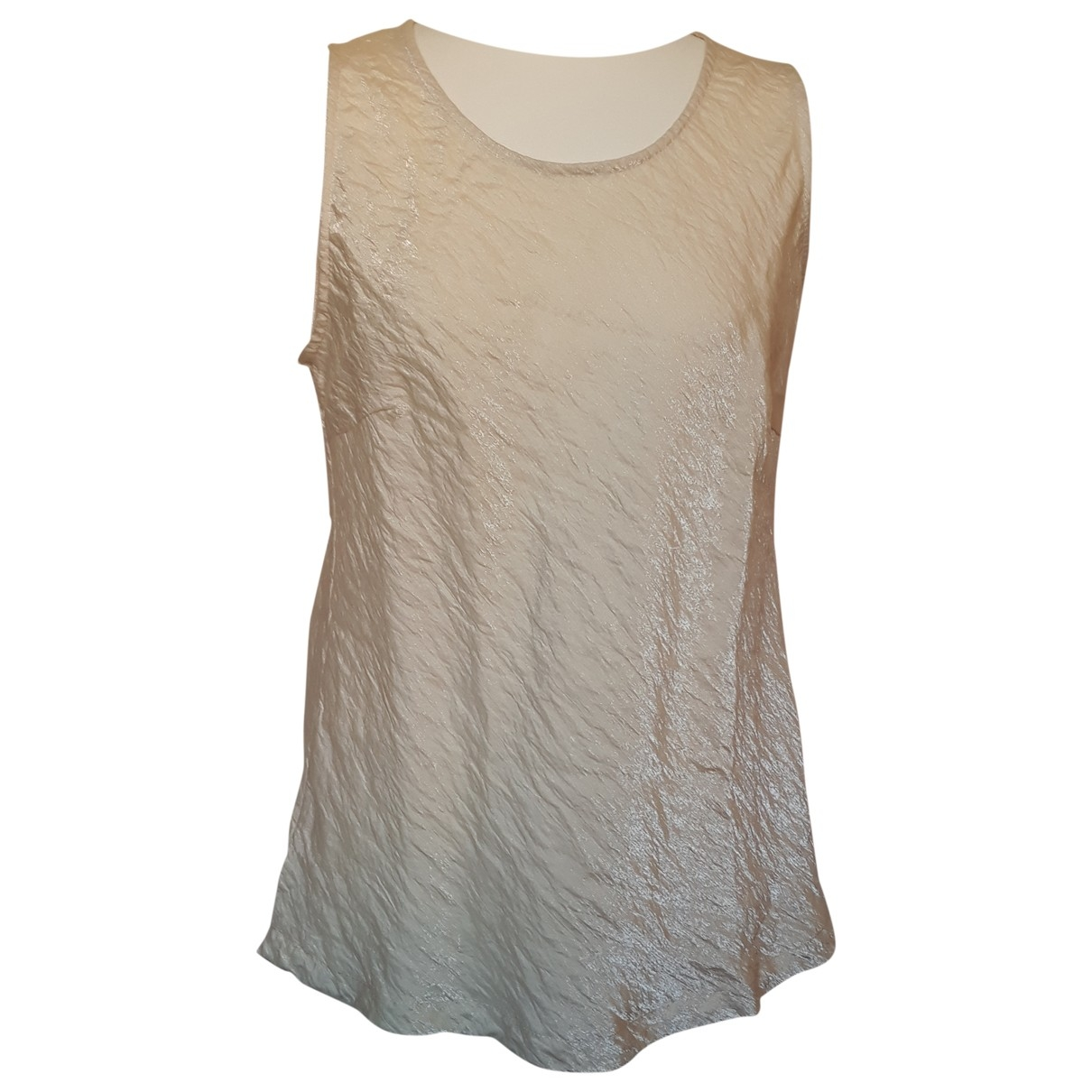 Non Signé / Unsigned \N Beige Silk  top for Women 46 IT