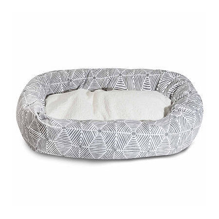 Majestic Pet Charlie Sherpa Bagel Pet Bed, One Size , Gray