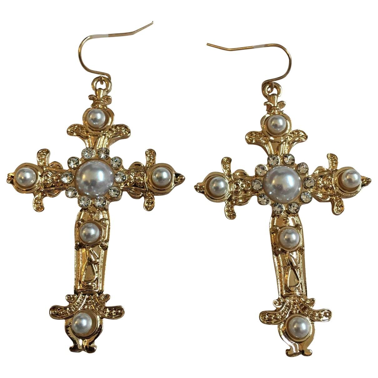 - Boucles doreilles Motifs Religieux pour femme en metal - dore