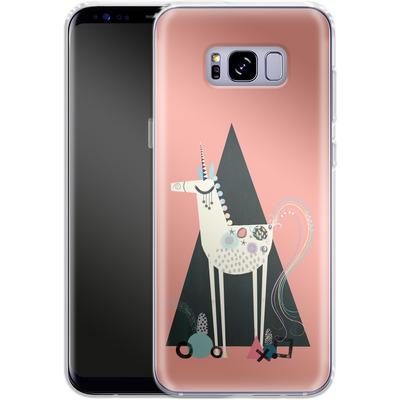 Samsung Galaxy S8 Plus Silikon Handyhuelle - Unicorn Triangle von Victoria Topping