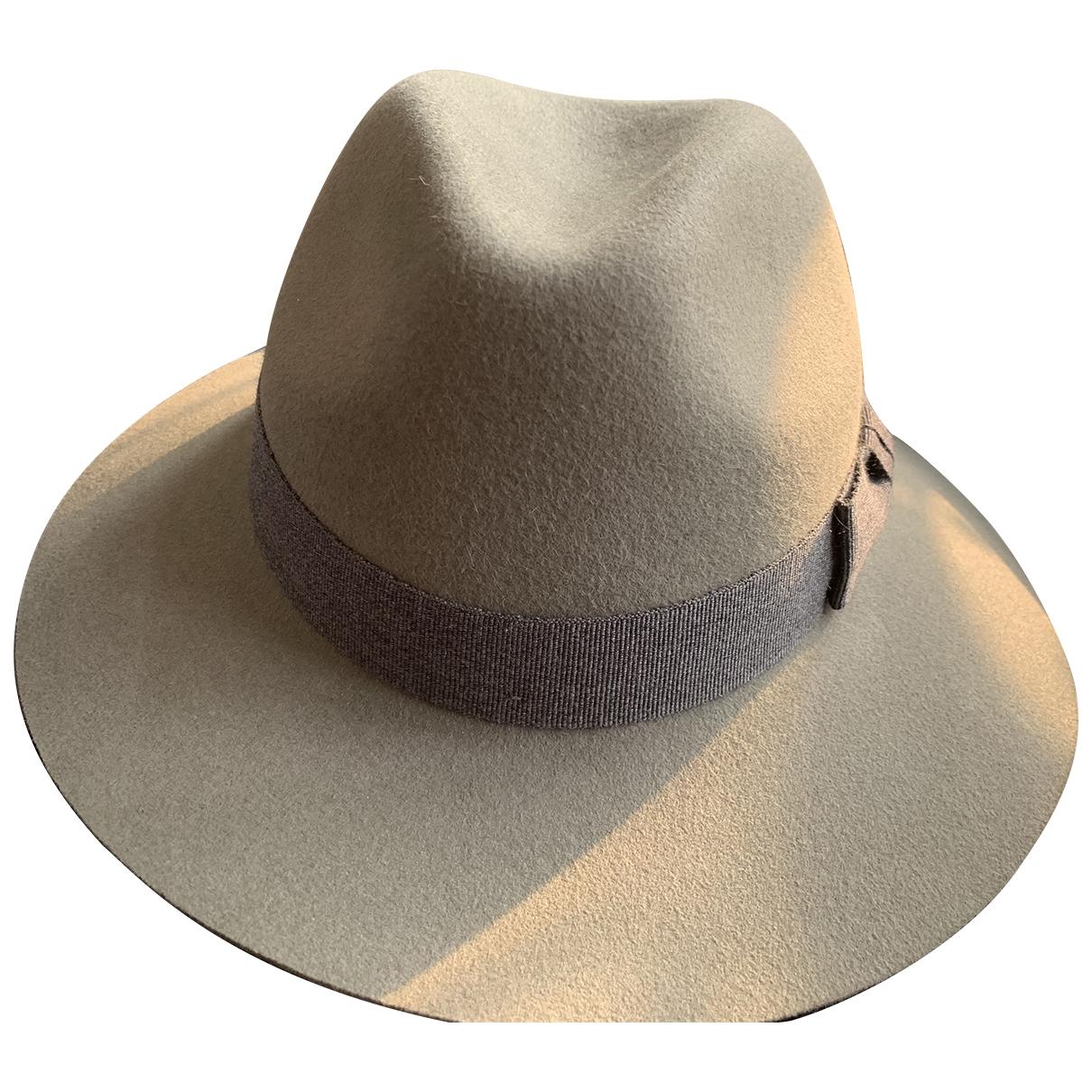 Lanvin - Chapeau & Bonnets   pour homme en laine - gris