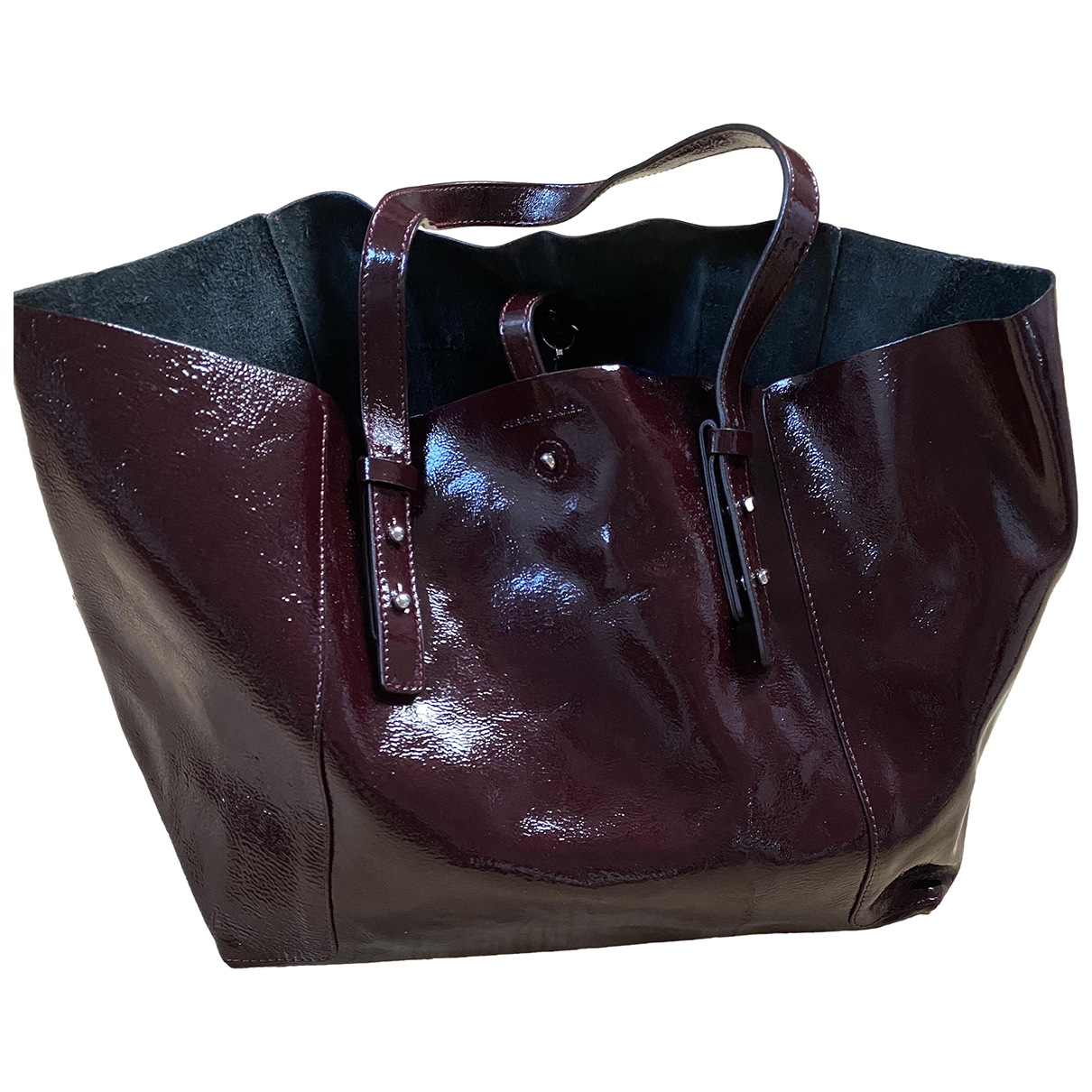 Gerard Darel Simple Bag Burgundy Patent leather handbag for Women N