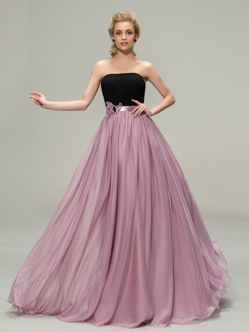 Ericdress Strapless Flowers Beading Bridesmaid Dress