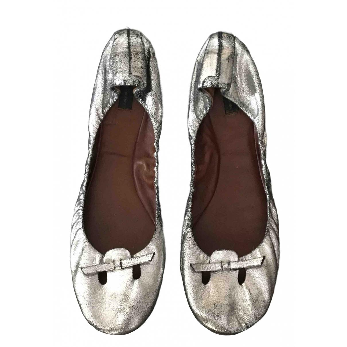 Marc Jacobs - Ballerines   pour femme en cuir - argente