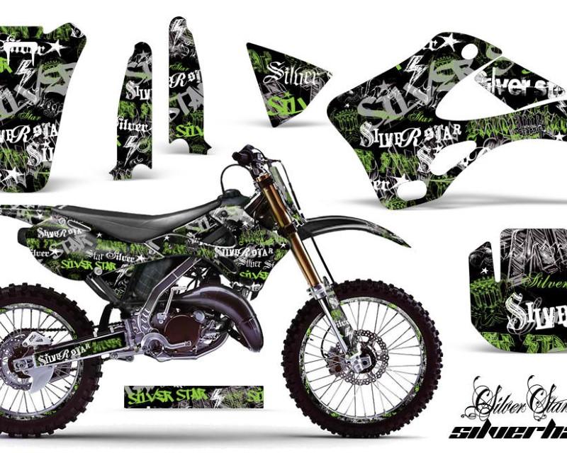 AMR Racing Graphics MX-NP-KAW-KX125-KX250-99-02-SSSH G K Kit Decal Wrap + # Plates For Kawasaki KX125   KX250 1999-2002áSSSH GREEN BLACK