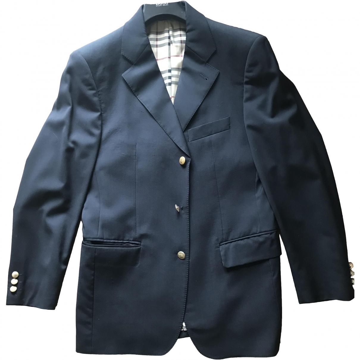Burberry \N Navy Wool jacket  for Men 48 FR