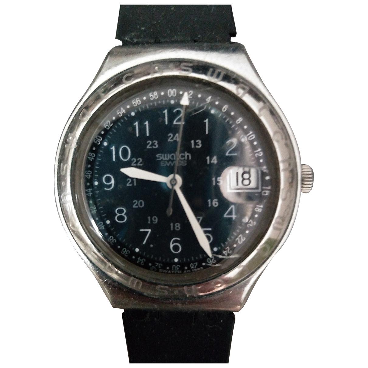 Swatch - Montre   pour homme en acier - gris