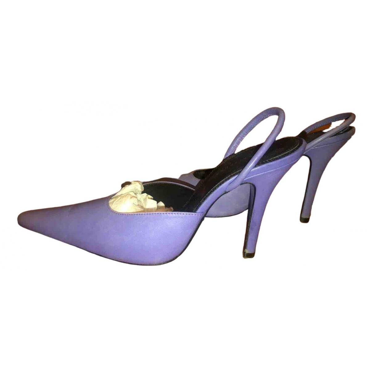 Dorateymur - Escarpins   pour femme en cuir - violet