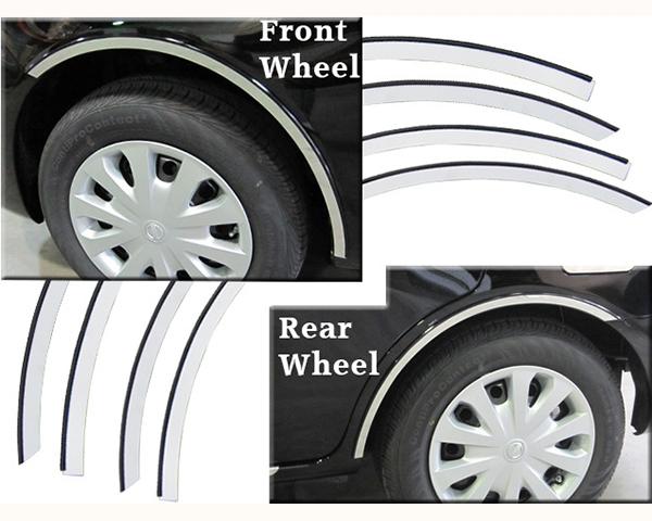 Quality Automotive Accessories 4-Piece Stainless Steel Wheel Well Fender Trim Kit Nissan Versa 2014