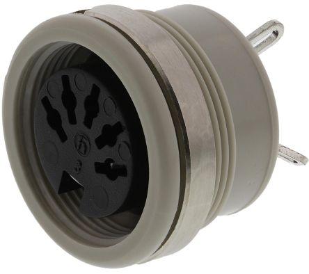 Hirschmann , MAB 3 Pole Din Socket Socket, DIN 41524, 4A, 34 V ac/dc IP30, Screw Lock