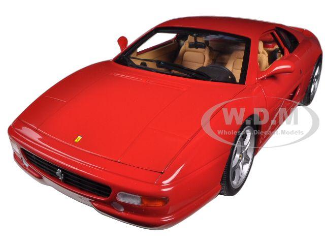 Ferrari F355 Berlinetta Coupe Red 1/18 Diecast Car Model by Hotwheels