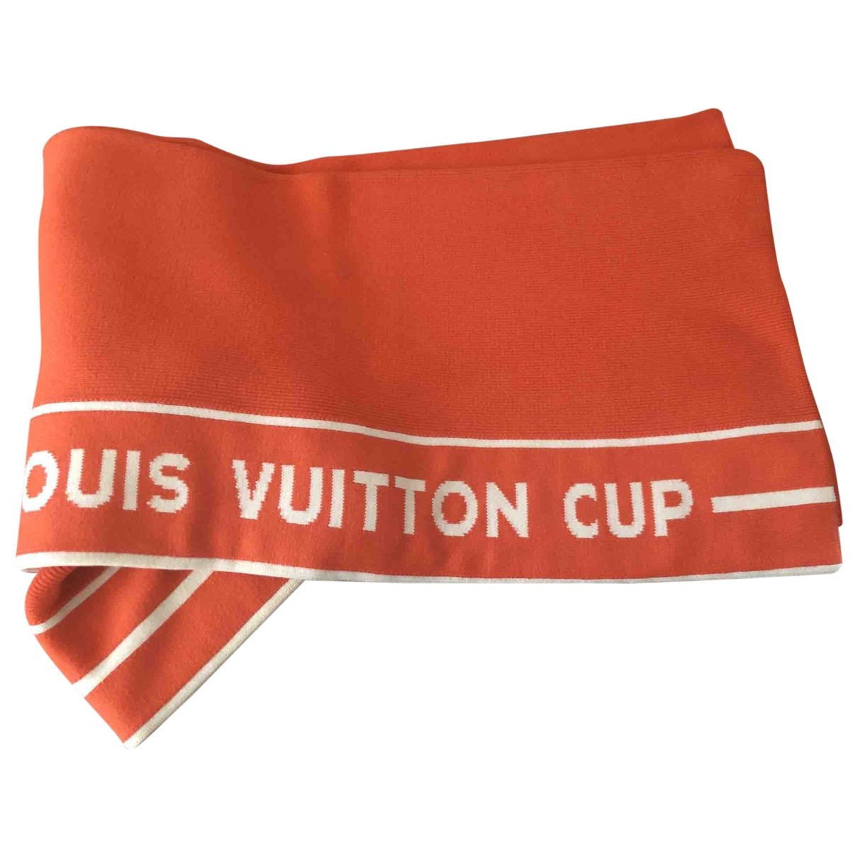 Louis Vuitton \N Orange Cotton scarf & pocket squares for Men \N