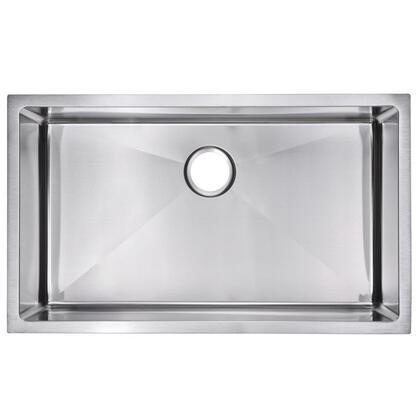SS-US-3219B 15mm Corner Radius Hand Made Undermount Kitchen Sink with Single Bowl  Standard 3.5