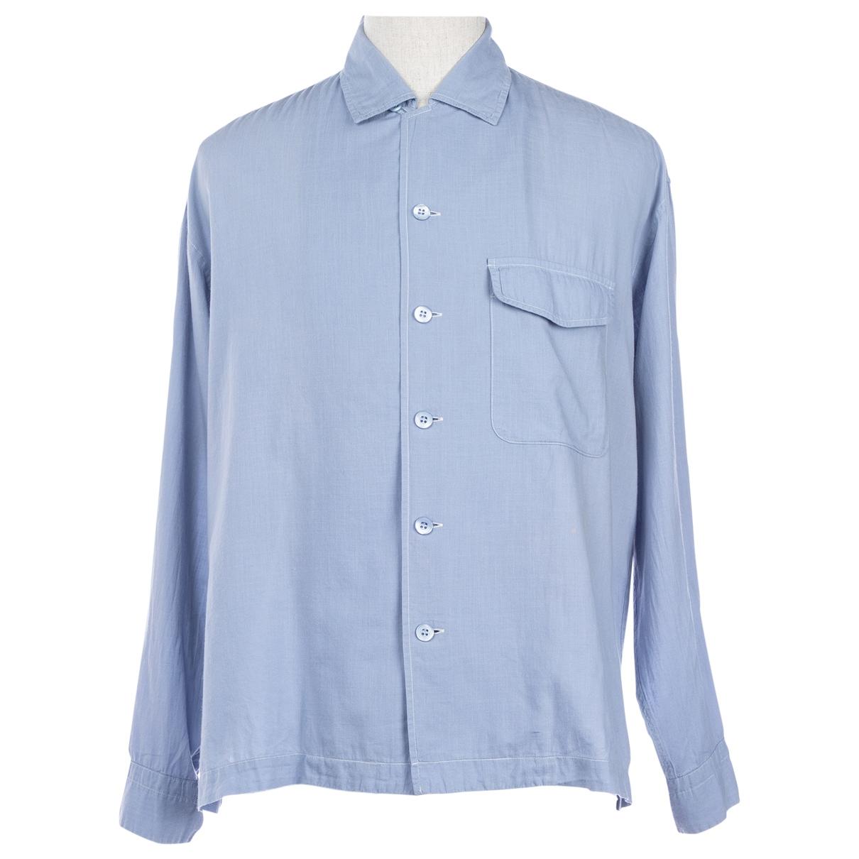 Issey Miyake - Chemises   pour homme en coton - bleu